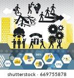problem solving infographic... | Shutterstock .eps vector #669755878