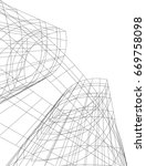 architecture building 3d vector   Shutterstock .eps vector #669758098