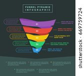 funnel spiral business pyramid... | Shutterstock .eps vector #669759724