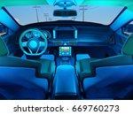 interior of the modern car.  3d ... | Shutterstock . vector #669760273