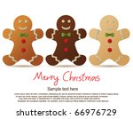 set of gingerbread cookies | Shutterstock .eps vector #66976729
