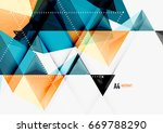triangular low poly vector a4... | Shutterstock .eps vector #669788290