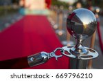long red carpet between rope... | Shutterstock . vector #669796210