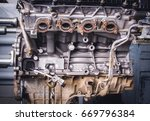 diesel engine | Shutterstock . vector #669796384