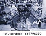 diesel engine | Shutterstock . vector #669796390