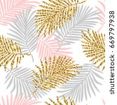 tropical seamless pattern with... | Shutterstock .eps vector #669797938