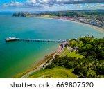 llanduno pier wales | Shutterstock . vector #669807520