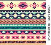 tribal vector seamless pattern. ... | Shutterstock .eps vector #669810514