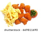 fried chicken nuggets and... | Shutterstock . vector #669811690