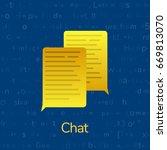 chat bubbles concept. vector...   Shutterstock .eps vector #669813070