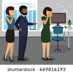 rude boss threatening and...   Shutterstock .eps vector #669816193
