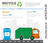 recycle infographic banner... | Shutterstock .eps vector #669829438