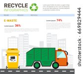 recycle infographic banner... | Shutterstock .eps vector #669829444