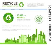 recycle infographic banner... | Shutterstock .eps vector #669829504