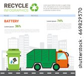 recycle infographic banner... | Shutterstock .eps vector #669829570