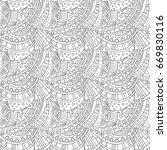 seamless pattern zentangle... | Shutterstock .eps vector #669830116