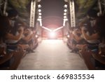 fashion runway out of focus... | Shutterstock . vector #669835534