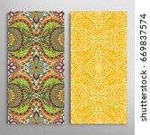 vertical seamless patterns set  ... | Shutterstock .eps vector #669837574