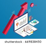 business and data charts | Shutterstock .eps vector #669838450