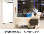 blank advertising billboard at... | Shutterstock . vector #669840544