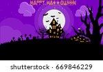 happy halloween vector...   Shutterstock .eps vector #669846229