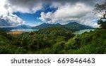 Twin lake view - Bali island, Indonesia