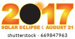 2017 solar eclipse totality... | Shutterstock .eps vector #669847963