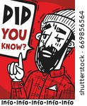 poster did you know hipster... | Shutterstock .eps vector #669856564