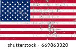 united states of america flag... | Shutterstock . vector #669863320