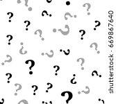 question mark seamless pattern .... | Shutterstock .eps vector #669867640