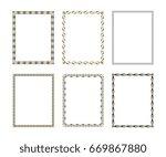 set luxury decorative frame.... | Shutterstock .eps vector #669867880