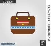 office bag  suitcase icon in...