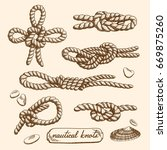 detailed drawings of nautical... | Shutterstock .eps vector #669875260