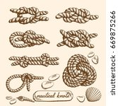 detailed drawings of nautical... | Shutterstock .eps vector #669875266