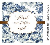 invitation with floral... | Shutterstock .eps vector #669876778