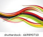 colorful wave abstract... | Shutterstock .eps vector #669890710