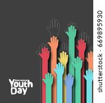 international youth day 12... | Shutterstock .eps vector #669895930