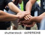 teamwork concept business team... | Shutterstock . vector #669898348