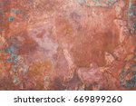aged copper plate texture  old... | Shutterstock . vector #669899260