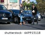 paris october 5  2016. street... | Shutterstock . vector #669915118