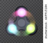 led rgb lightning fidget... | Shutterstock .eps vector #669915184