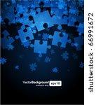 vector puzzle background   Shutterstock .eps vector #66991672