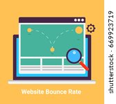 website bounce rate. exit rate  ... | Shutterstock .eps vector #669923719