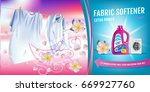 rose fragrance fabric softener... | Shutterstock .eps vector #669927760