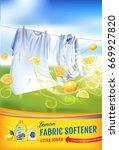lemon fragrance fabric softener ... | Shutterstock .eps vector #669927820