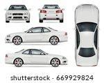 sports car vector mock up for... | Shutterstock .eps vector #669929824