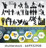 business info graphic icon set | Shutterstock .eps vector #669932908