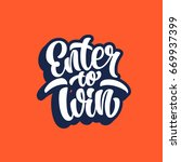 enter to win lettering text... | Shutterstock .eps vector #669937399