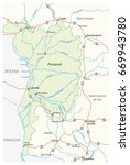 map pantanal  the largest... | Shutterstock .eps vector #669943780