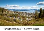 panorama of molde town  norway | Shutterstock . vector #669944806
